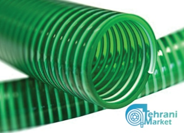 شیلنگ آبیاری خرطومی آبی و سبز و طوسی